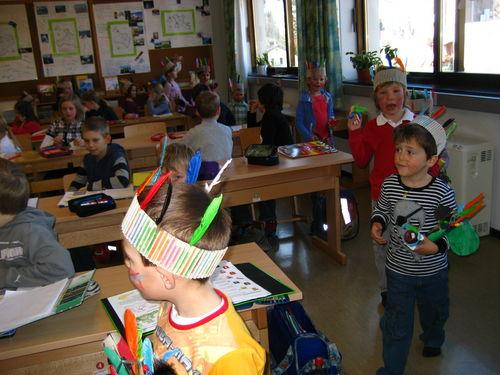 Besuch Vom Kindergarten Im Fasching
